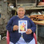 Logrone: Maria Mediavilla, eine Camino–Ikone. Ihre Familie stempelt die Pilgerpässe seit drei Generationen.