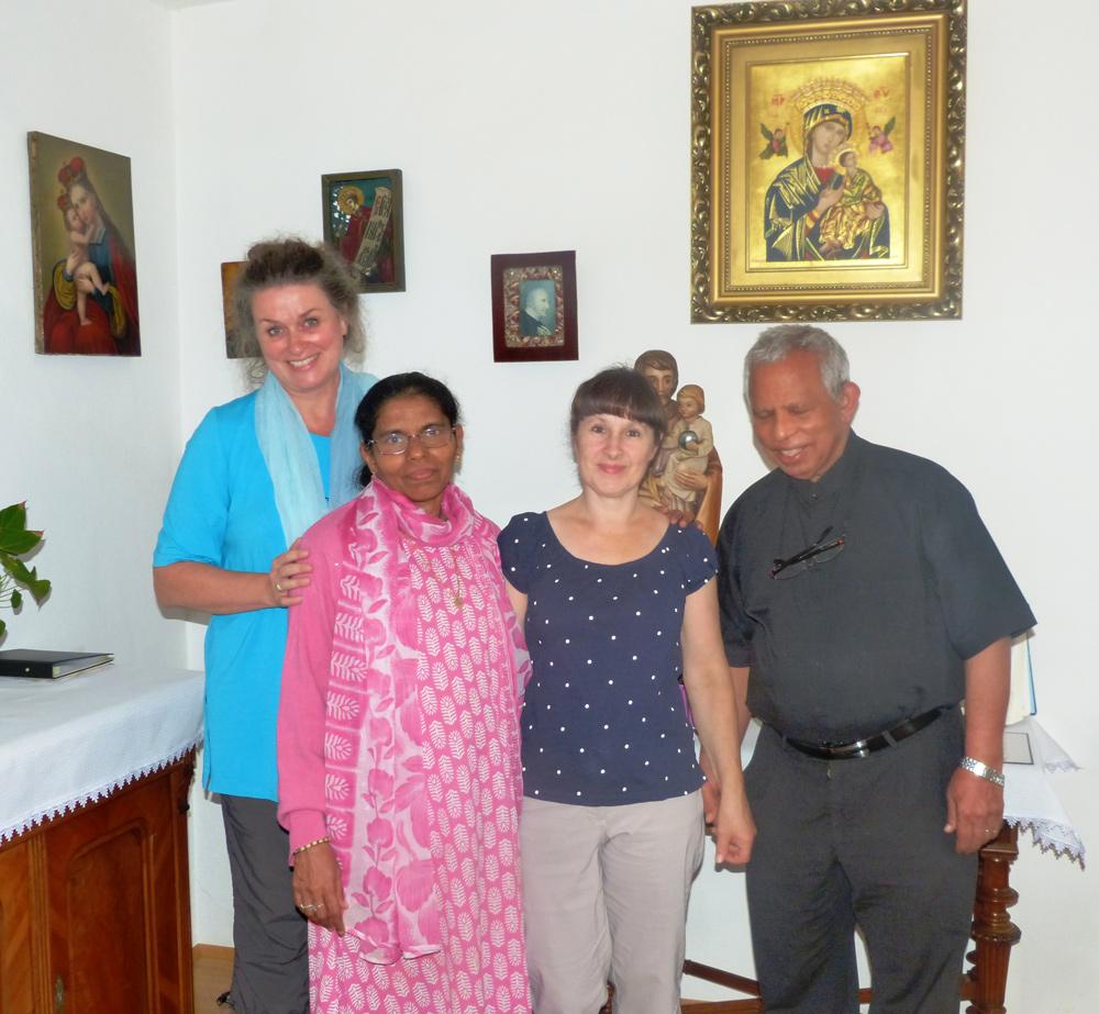 Pater Dr. James Mariakumar SVD. Divine Word Ministry und Schwester Mary Pereira